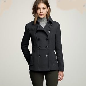 J Crew Gray Stadium Cloth Peacoat